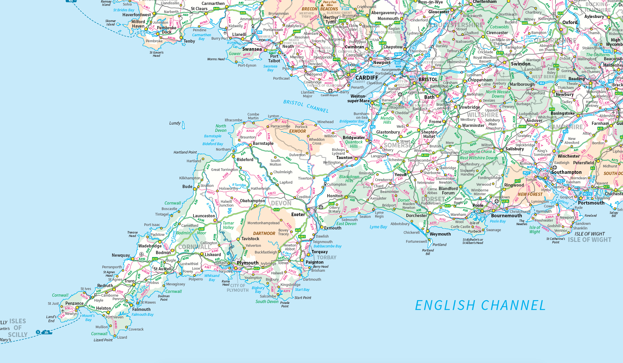 West cities south england Bristol